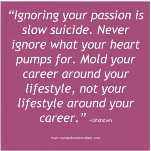 Career around lifestyle quote