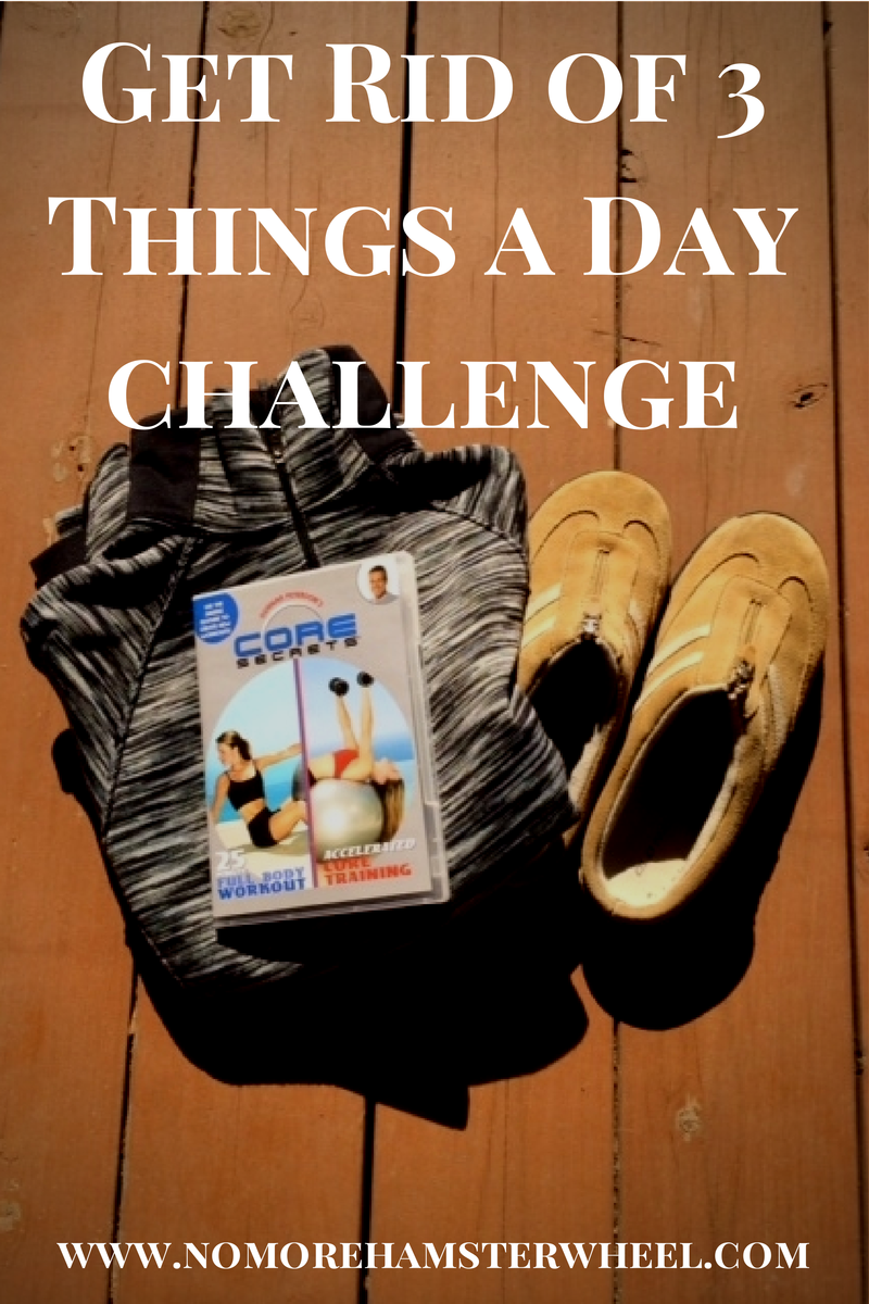 get rid of 3 things a day challenge
