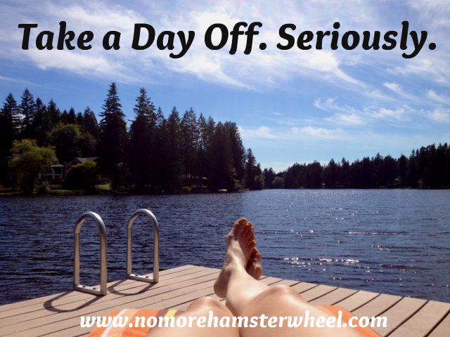Take a day off photo