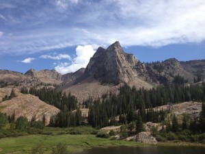 Sundial Peak with Lake Blanche below