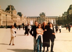 My life in Paris with friends. Yes, I am the one in jeans :) Fashion was never my thing.