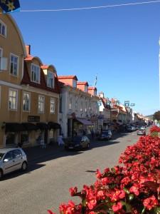Gränna, the mainland across Visingsö (island). Famous for polkagrisen, a candy.