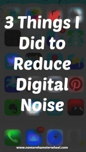 3 things reduce noise photo