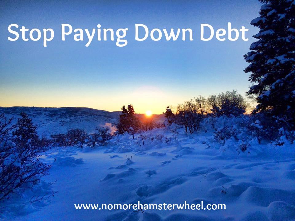 stop paying debt