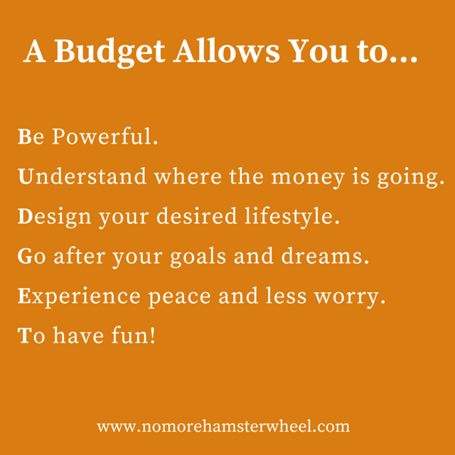 A Budget Allows You to...