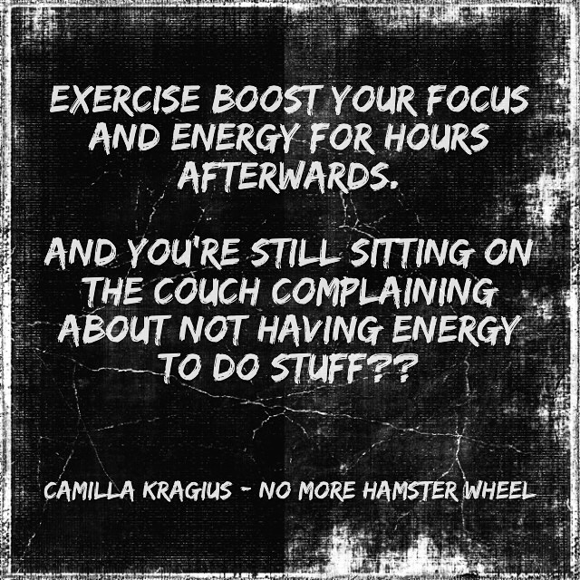 Exercise boost focus