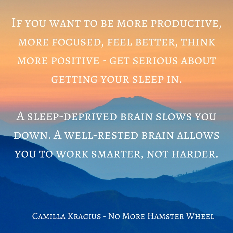 Get serious about sleep quote